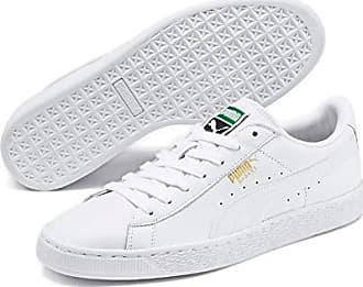2017 18 Puma Bianco Basket Platform Bianco Leather Scarpe