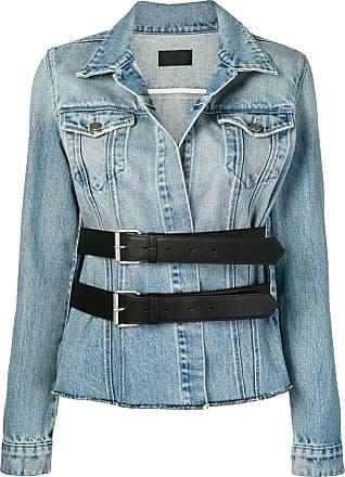 Rta double buckle denim jacket - Azul