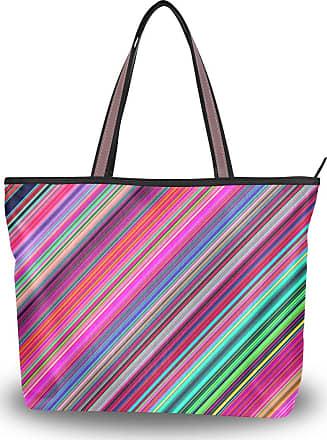 Lorona Women Texture Colorful Canvas Shoulder Hand Bag Large Capacity Tote Bag