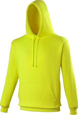 Awdis Mens Electric Neon Hoodie Electric Yellow XX-Large