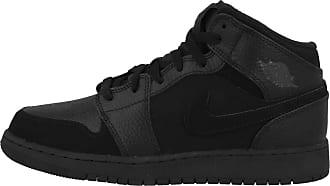 Nike Mens AIR Jordan 1 MID (GS) Fitness Shoes, Multicolour Dk Smoke Grey/Black 064, 5.5 UK