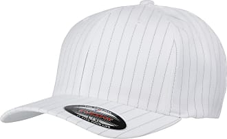 Yupoong Flexfit Unisex Pinstripe Baseball Cap (L-XL) (White/Black)