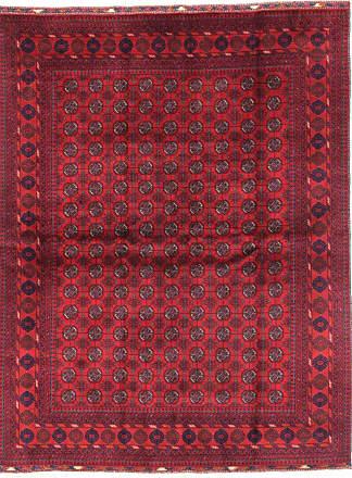 Nain Trading 195x150 Tappeto Orientale Afghan Mauri Ruggine/Viola (Afghanistan, Lana, Annodato a mano)