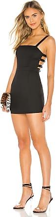 Superdown Vanessa Side Button Dress in Black