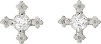 Zoe & Morgan Izil Studs Natural White Zircon Silver - one size | sterling silver | silver | White - Silver/Silver