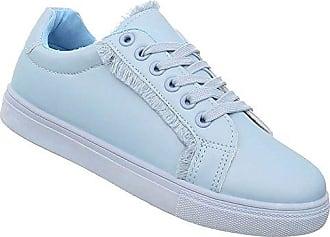 f796b9bccb9710 Schuhcity24 Damen Schuhe Sneakers Sportschuhe Turnschuhe Freizeitschuhe  Hellblau 39
