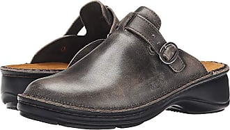 Naot Aster (Vintage Gray Leather) Womens Clog/Mule Shoes