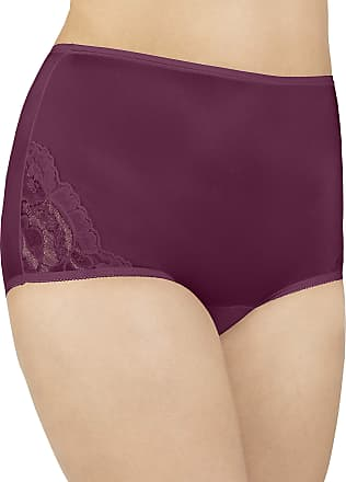 Vanity Fair Womens Perfectly Yours Lace Nouveau Brief Panty 13001, Chilled Wine, Medium