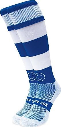 Wackysox Rugby Socks, Hockey Socks - Royal Blue and White Hoop Sports Socks