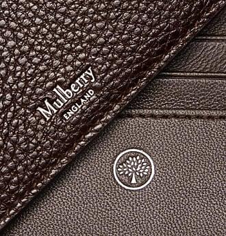 Mulberry Full-grain Leather Billfold Wallet - Dark brown