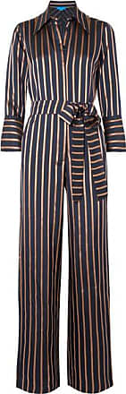 a20133ebdd01 Mih Jeans Dexy Belted Striped Jacquard Jumpsuit - Navy