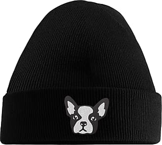 HippoWarehouse Frenchie Embroidered Beanie Hat Black