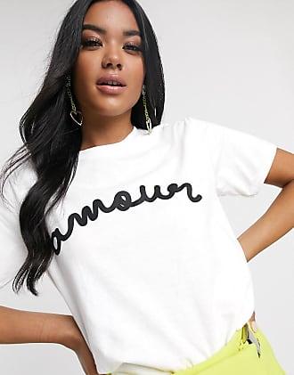 Missguided Amour - Weißes T-Shirt mit Slogan