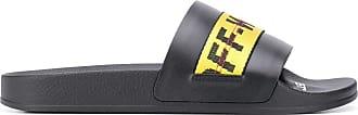 Off-white Industrial logo print slides - Black