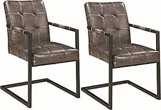 Coaster Fine Furniture Scott Living 190433 Oakville Arm Chairs, Set of 2, Dark Brown/Gunmetal