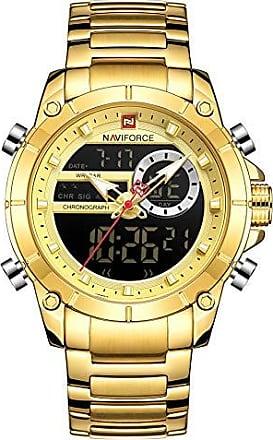 NAVIFORCE Relógio Masculino Naviforce NF9163 GG Pulseira em Aço Inoxidável - Dourado
