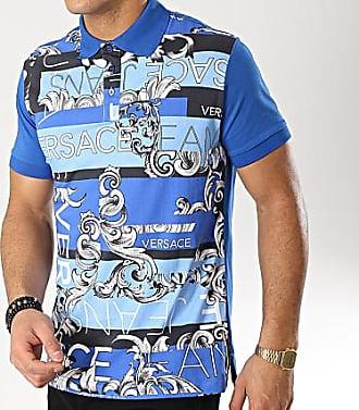 Versace Jeans Couture Polo Manches Courtes Contrast B3GTA7P9-36610 Bleu  Clair Renaissance c5a8d866743