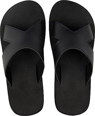 iLoveSIA Mens Beach Open-Toe Sandals Black UK Size 11-11.5