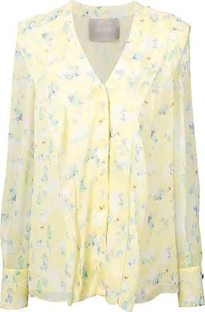 Jason Wu Blusa de seda floral - Amarelo