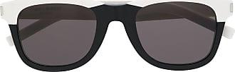 Saint Laurent Eyewear Óculos de sol redondo 51 - Preto