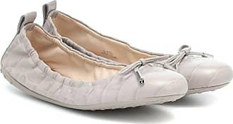 Tod's Croc-effect leather ballet flats