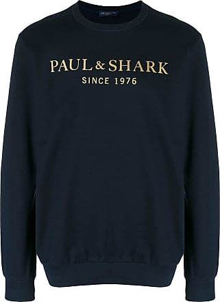 Paul & Shark Moletom com logo e decote careca - Azul
