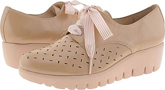 Wonders C-33210 Leather Blucher with Laces for Women Size: 6 Color: Beige
