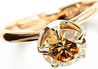 RIPA 14kt Rose Gold Molten Engagement Ring With Cognac Moissanite