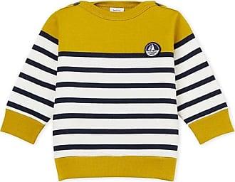 da3d8f65198cf Petit Bateau Sweatshirt rayure marinière colorblock bébé garçon