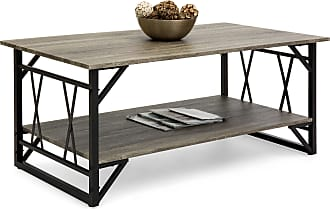 Best Choice Products Modern Contemporary Style Wooden Coffee Table w/ Metal Legs - Gray