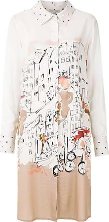 Alcaçuz Vestido chemise Restart - Branco