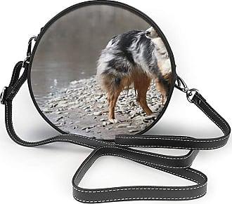 Turfed PU Round Shoulder Bag Lovely Dog Australian Shepherd Canine Australian Shepherd Cross Body Bag