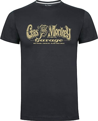 Gas Monkey Garage T-Shirt Distressed OG Logo Grey-XXL