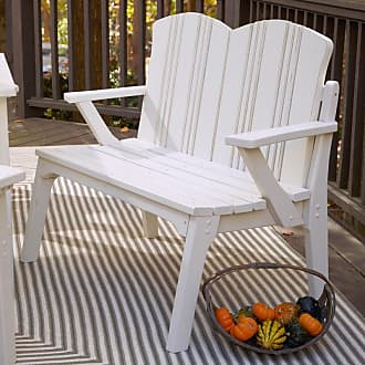 UWharrie Chair Outdoor Uwharrie Carolina Preserves Patio Bench with Back - C073-073W