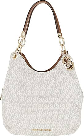 Michael Kors Tote - Lillie Large Chain Shoulder Tote Vanilla/Acorn - beige - Tote for ladies