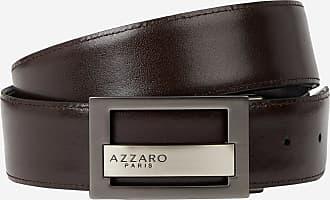 2a2f02fd057 Azzaro Coffret ceinture cuir réversible doubles boucles Noir Azzaro