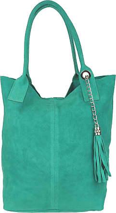 Girly HandBags Girly HandBags Open Top Real Italian Suede Shoulder Bag (Turquoise)