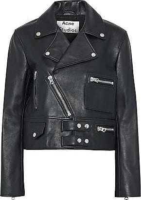 Acne Studios Acne Studios Woman Suokki Leather Biker Jacket Black Size 40