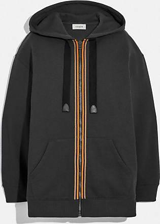 Coach Sweatshirt à capuche et fermeture éclair avec motif cheval et calèche - Size S