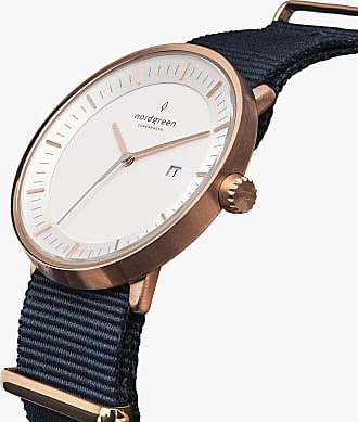 Nordgreen Philosopher - Rose Gold | Navy Blue Nylon - 40mm / Rose Gold