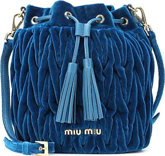 Miu Miu Matelassé velvet bucket bag