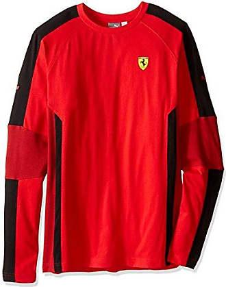 73fa471c9458a8 Puma Mens Scuderia Ferrari Long Sleeve Top, Rosso Corsa, X-Large