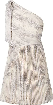 2e479eea285 Red Valentino one shoulder pleated dress - Neutrals
