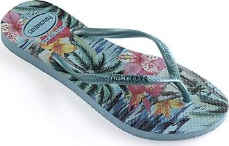 75c61a220e50b2 Havaianas Womens Slim Tropical Flip Flops Blue Splash 41-42 M Bra