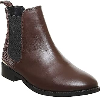 Office Bramble Chelsea Brown Leather Snake Mix - 4 UK