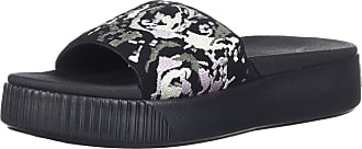 95f8a47407d2 Puma Womens Platform Slide Sandal Black Aged Silver-Winsome Orchid