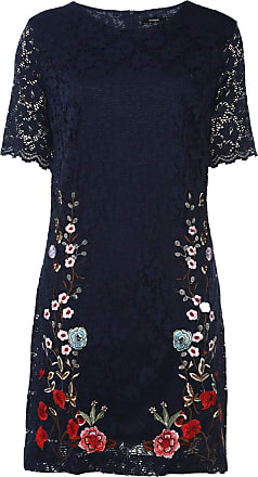 Desigual Vestido Desigual Curto Vernis Azul-Marinho