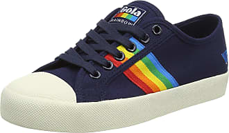 Gola Womens Coaster Rainbow Trainers, Blue (Navy/Multi Ex), 8 UK 41 EU