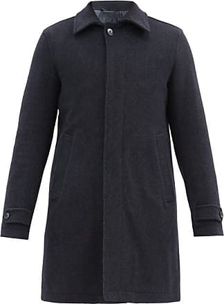Herno Quilted-lining Wool-blend Coat - Mens - Navy