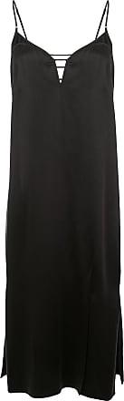 Kiki De Montparnasse Harness slip silk dress - Black